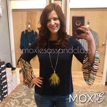 Navy Crystal Top - Moxie a sass + class boutique | Wichita, KS