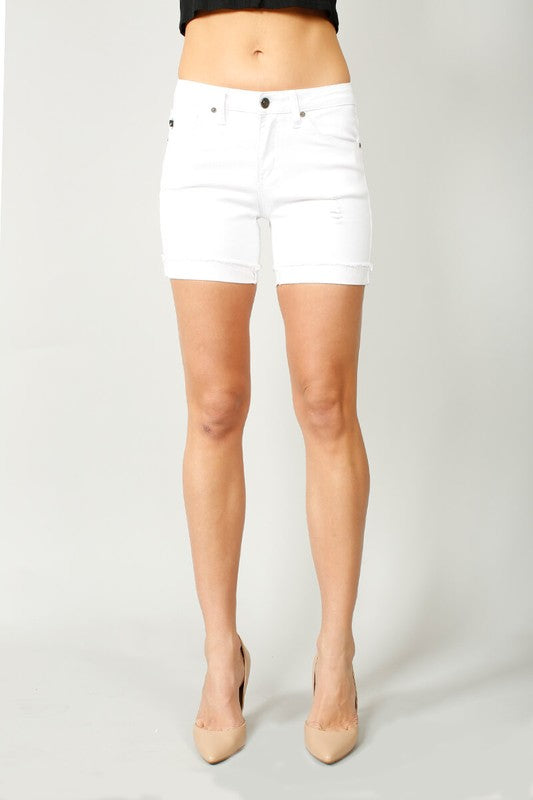 Sand Dollar White Jean Shorts - Moxie a sass + class boutique | Wichita, KS