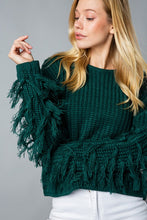 Image Maker Sweater with Fringe Sleeves
