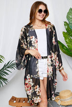"""Valencia"" Long Floral Kimono - Moxie a sass + class boutique 