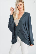 """On the Go"" Reversible Batwing Crossover Top - Moxie a sass + class boutique Wichita Boutique"