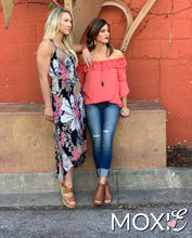 Coral Lace Off the Shoulder Top