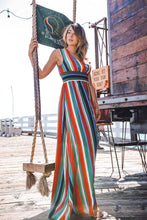 Summer Stripe Strut Maxi Dress