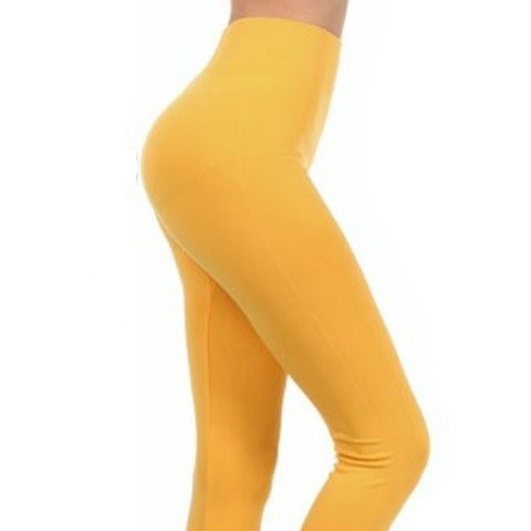 MUSTARD COLOR ONE SIZE LEGGINGS