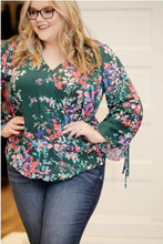 """Backtalk"" Tied Sleeve Top - Moxie a sass + class boutique 