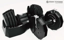 Exclusive Adjustable Dumbbell Zoom Fitness 55lbs