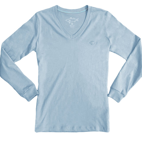 Long Sleeve Anchor V-Neck
