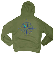 Compass Rose Hoodie Fleece Pullover