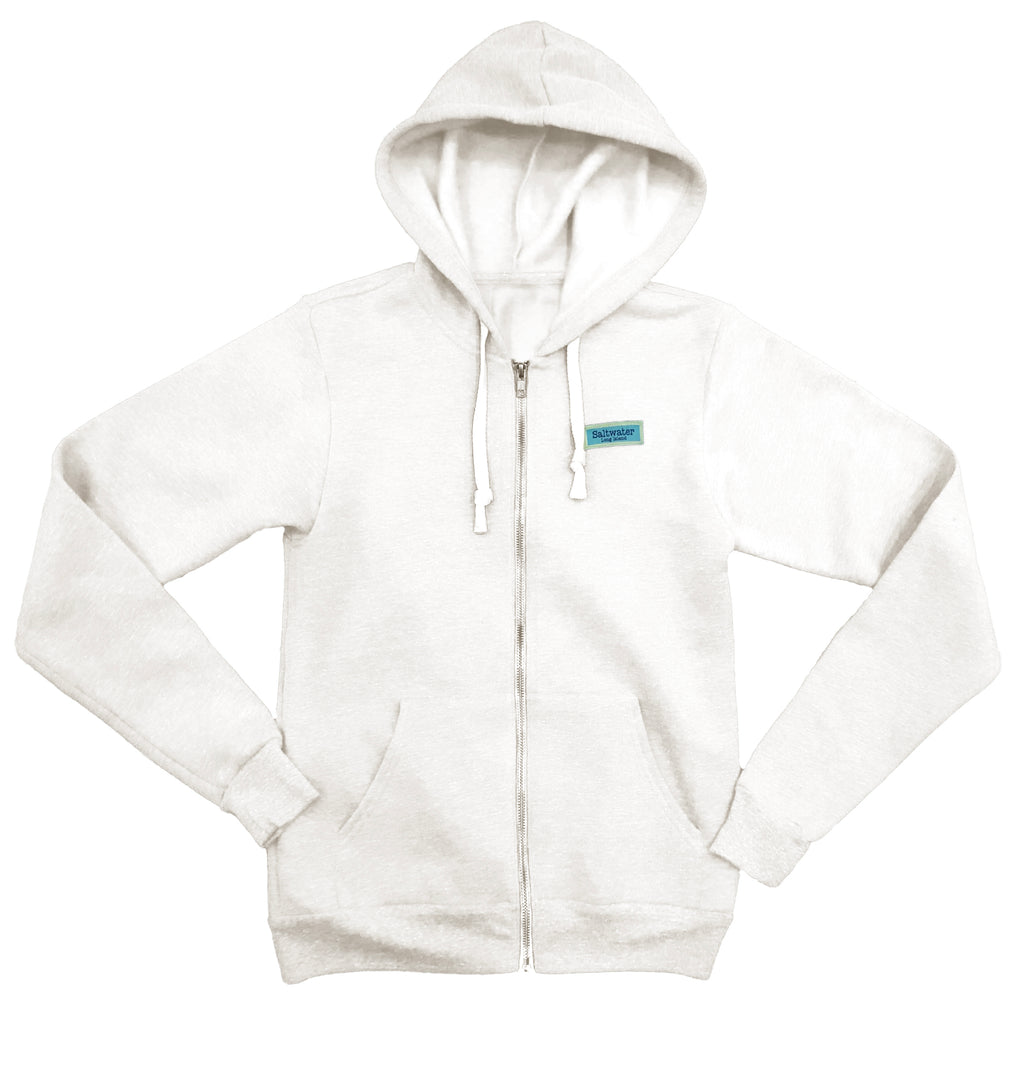 Vintage Beach Fleece Hoodie Zip