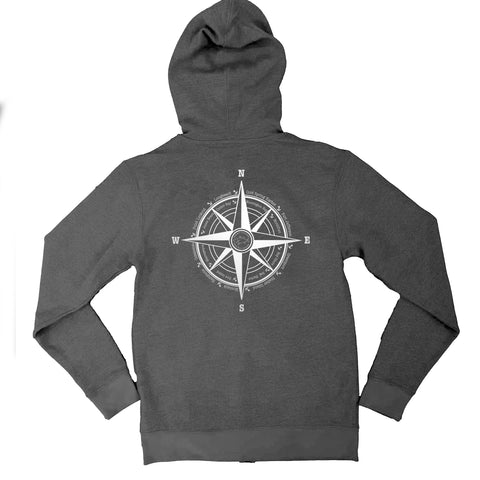 Compass Beach Fleece Hoodie Zip