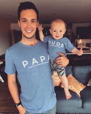 MAMA, PAPA, DUDE & MINI Matchy Tee | Blue