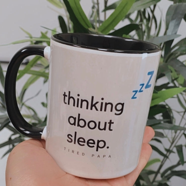 Thinking About Sleep Papa Mug
