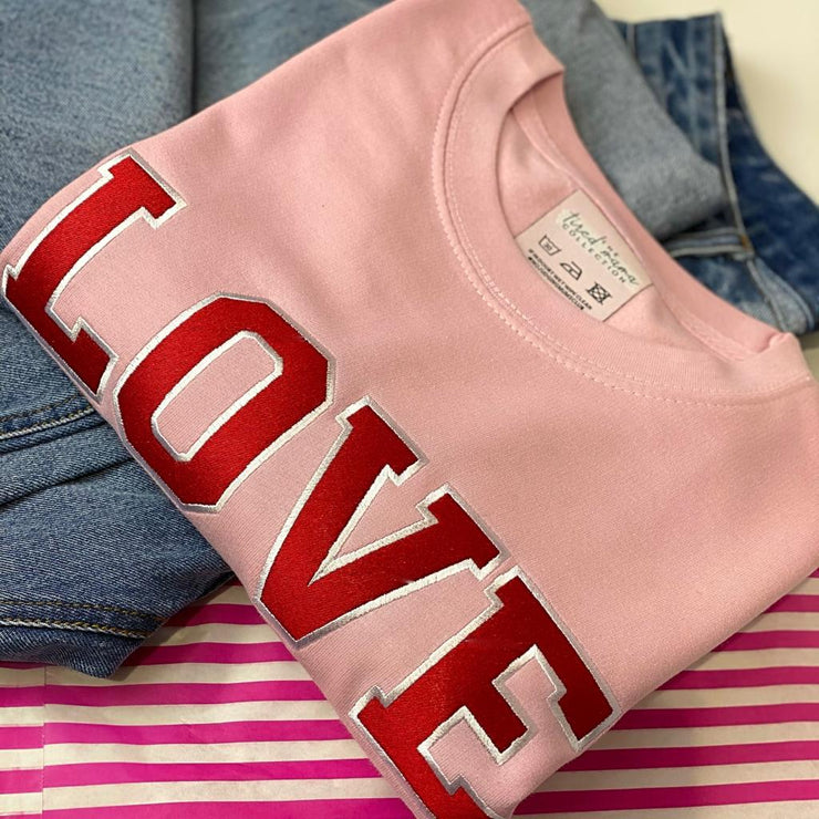 LOVE Varsity Jumper | Embroidery