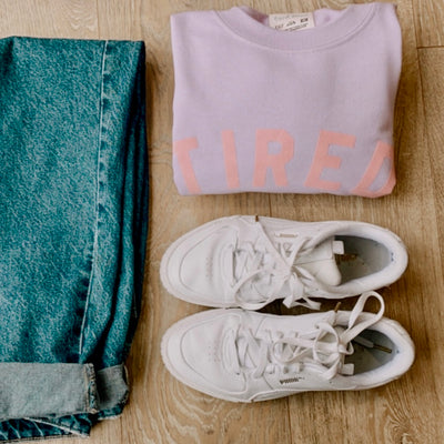TIRED Jumper | Lilac & Pink