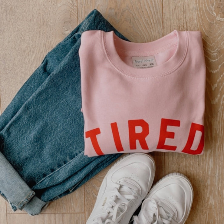 TIRED Jumper | Pink & Red