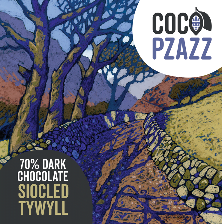 Coco Pzazz 70% Dark Chcolate Bar 80g
