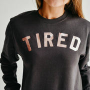 TIRED Jumper | Charocoal and Rose Gold