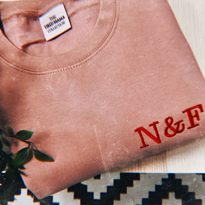 Personalised Initial Jumpers | Pink & Red