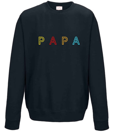 PAPA Embroidery Jumper | Navy
