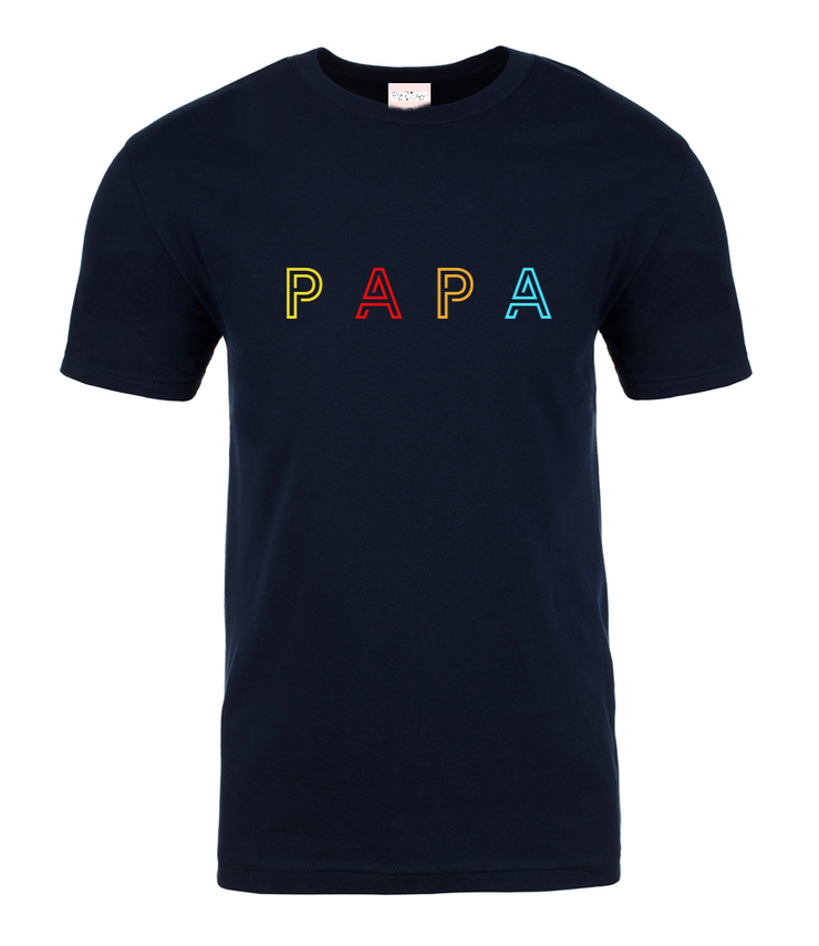 PAPA Embroidery Tee | Navy