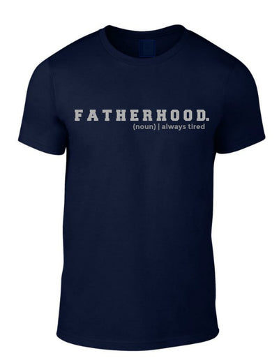 FATHERHOOD Tee | Navy & Grey