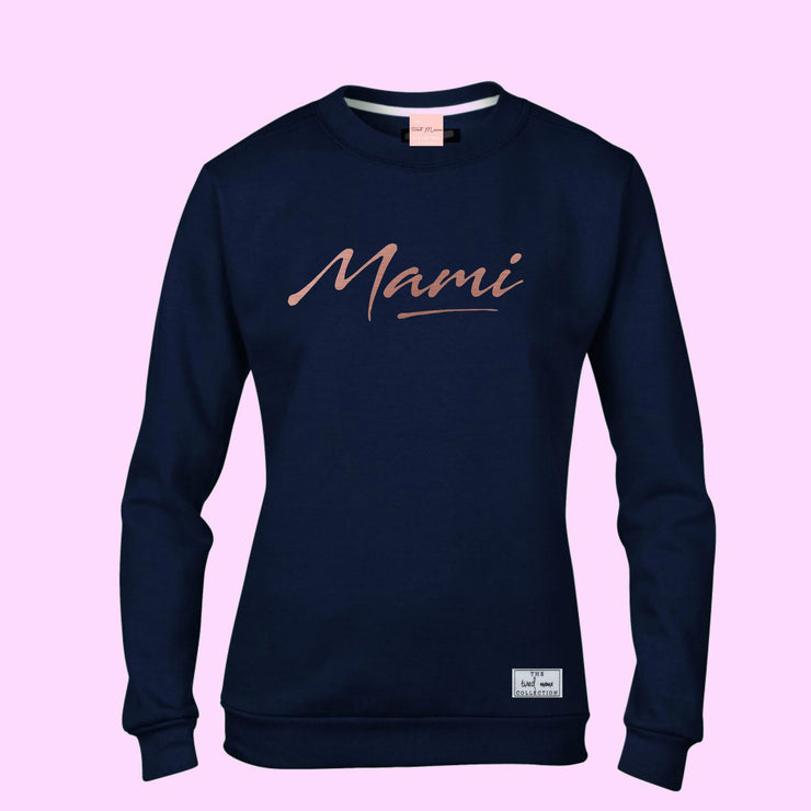 Mami Jumper | Navy & Rose Gold