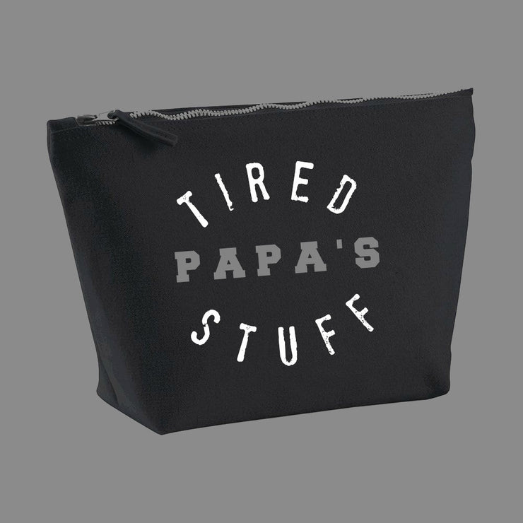 TIRED PAPA'S STUFF- Large Zipped Wash Bag
