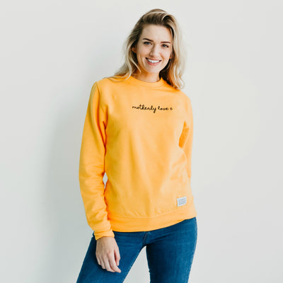 Yellow Motherly Love x Jumper | Black Embroidery Design