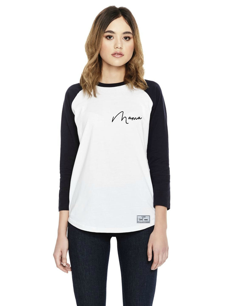 Long sleeve Baseball Tee |  Mama