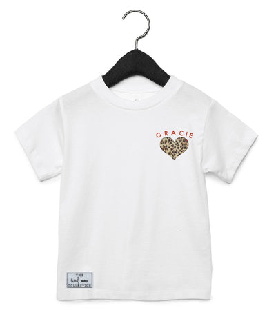 Personalised Leopard Tee | White