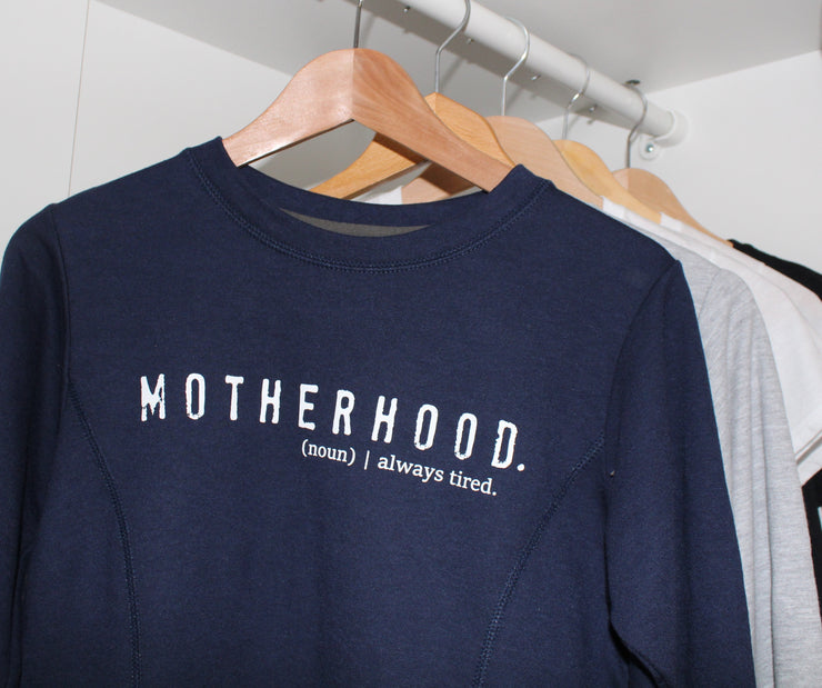 Motherhood Jumper | Navy and White