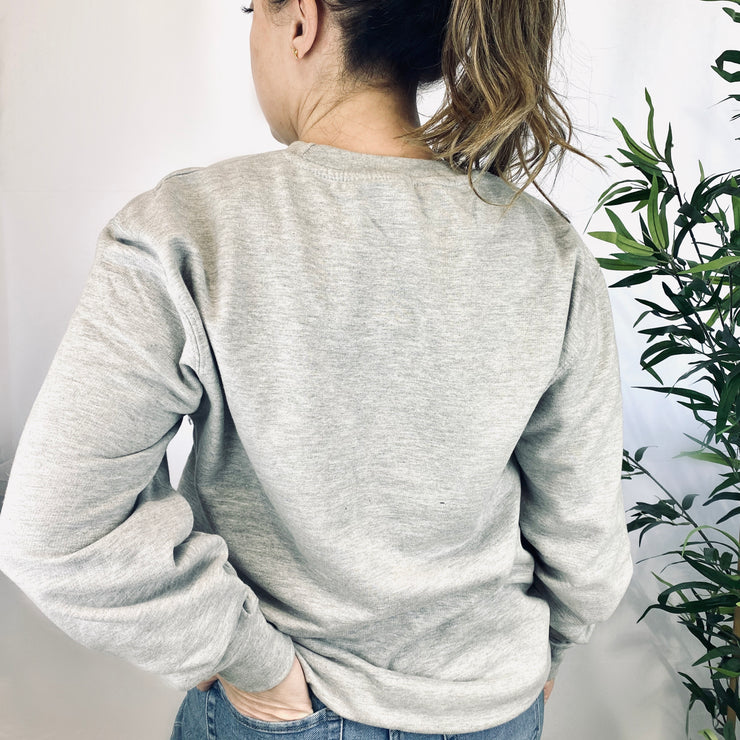 TIRED Jumper | Grey & Rose Gold