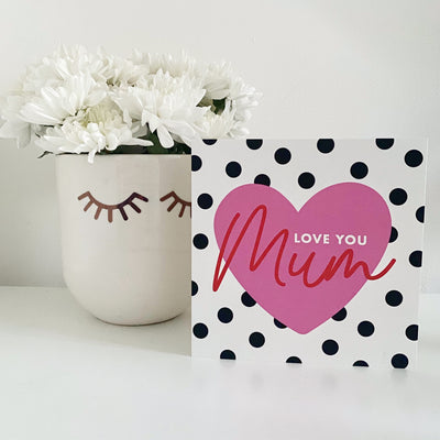 Love you Mum Greetings Card