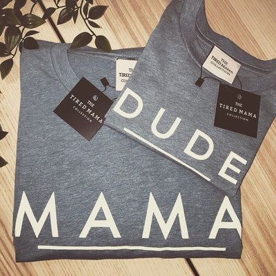 Mama/ Papa & Dude/Mini Matchy Tee | Blue