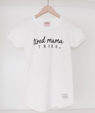 Tired Mama TRIBE™ Round Tee | White