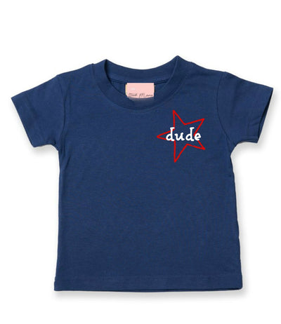 Star Dude short sleeve tee | Navy