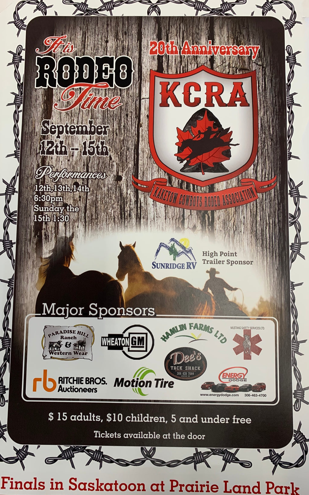 We Will be at the KCRA Finals this week!!