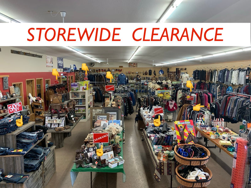 STOREWIDE CLEARANCE  50 - 75% OFF