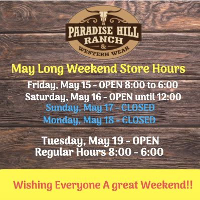 May long weekend - store hours
