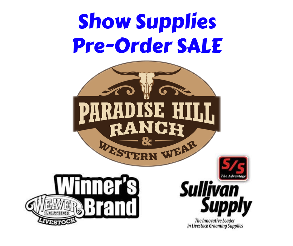 Cattle Show Supplies Sale!
