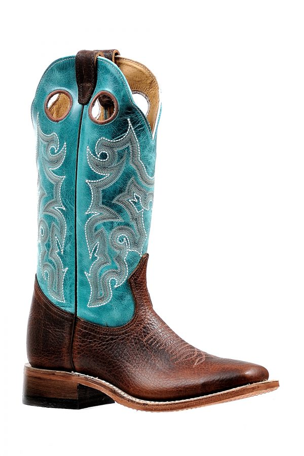 CL4748-7 Cowboy Boot Ladies Turq. and Brown