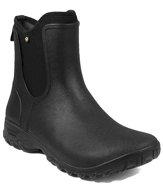 "CL72203-9-Black Boots Bogs ""Sauvie"" Slip On"