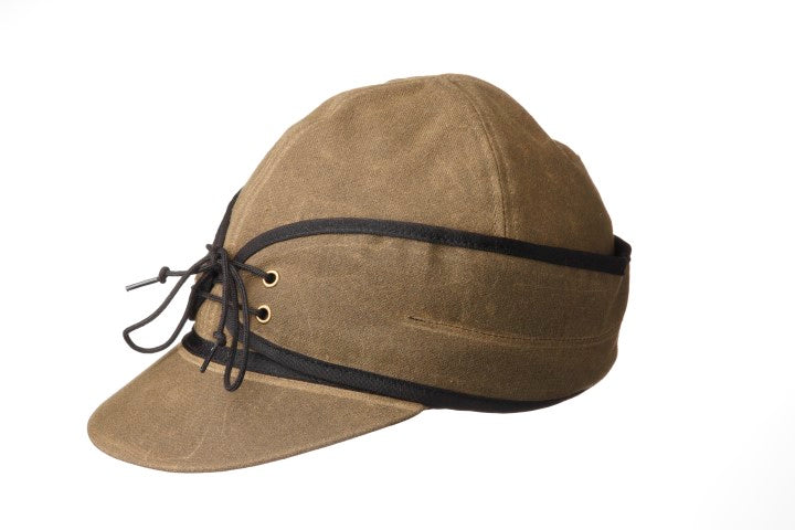 CL1-1708-S-Olive Hat Railroad Waxed Cotton w/ Earband