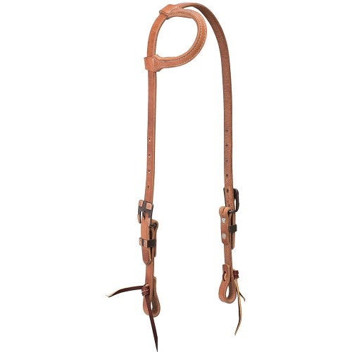 TK10-0691 Headstall Buff Brown Square SL/EAR