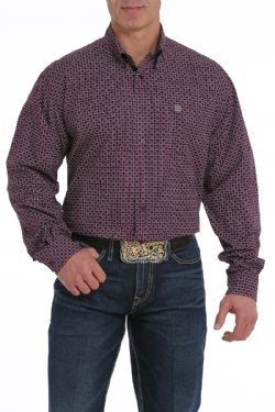 CLMTW1104992 PUR-S Mens L/S Print Purple