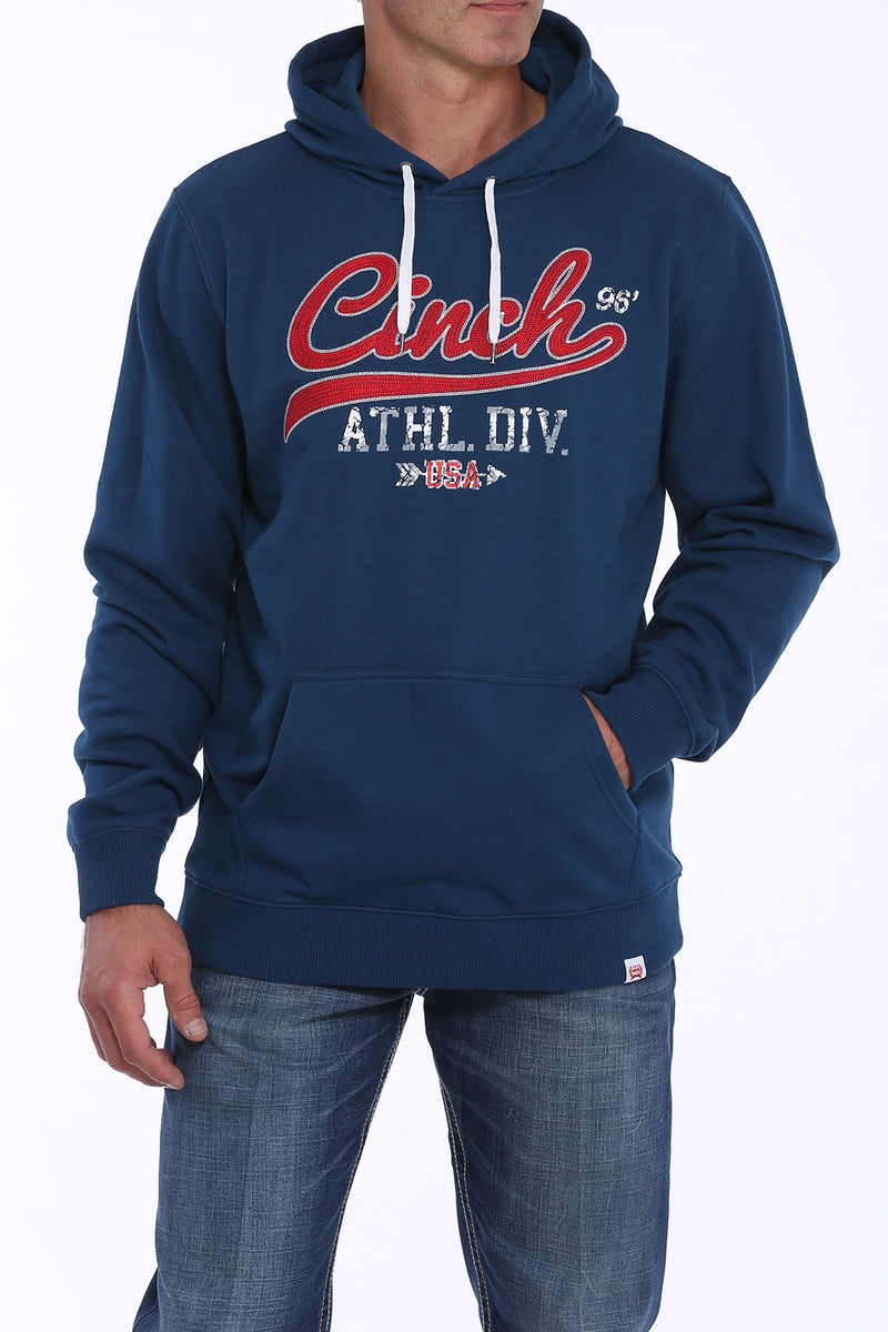 "CLMWK1206009-XS-Royal Hoodie Fleece Red ""Cinch"" Logo"