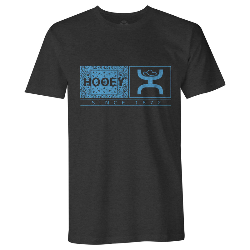 "CLHT1364-S-Black T-Shirt Hooey Crew Neck ""Roots"""