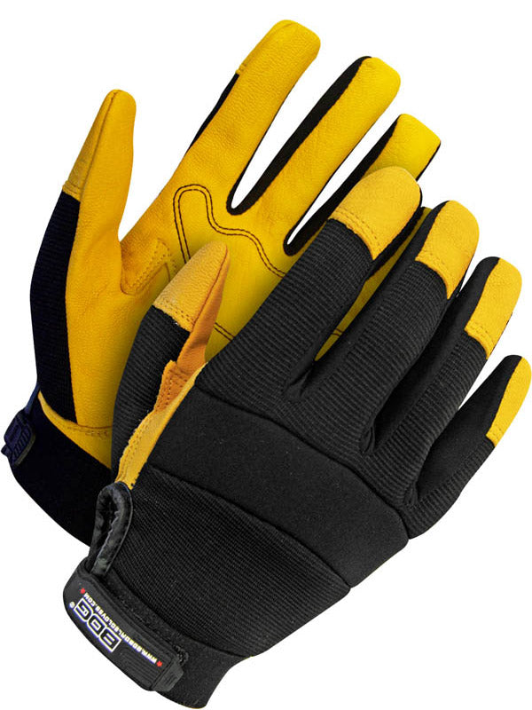 CL20-1-1214-L Gloves Mechanics Grain Goatskin Palm