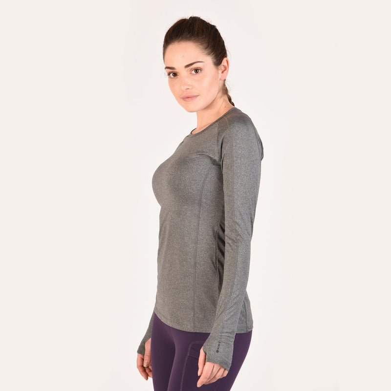 CLNO/21506-S-Grey Crewneck Ladies Noble Hailey L/S