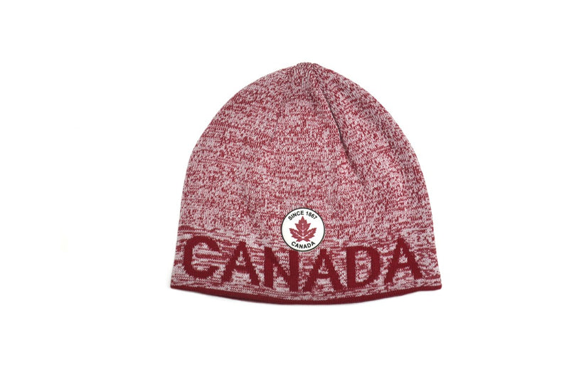 "CL3-11564 Beanie Knit Red ""Canada"" Logo"